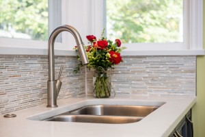 kitchen sink and faucet detail